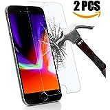 Pellicola Protettiva iPhone 8 plus,Pellicola Protettiva iPhone 7 plus,KKtick iPhone 8 plus Vetro Temperato [2 Pack][3D Toccare Compatibile] Screen Protector per iPhone 8 plus -Transparent