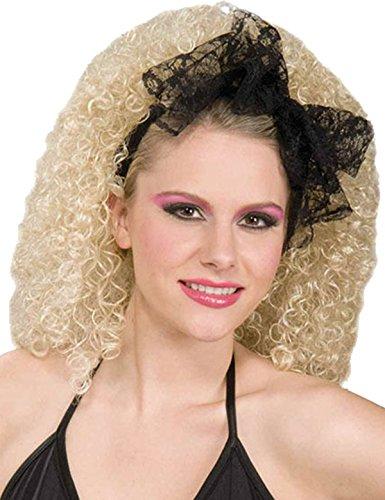 Weihnachten Madonna Verzweifelt Seeking Susan 80s Fancy Lacey Haare Schal Schwarz ()