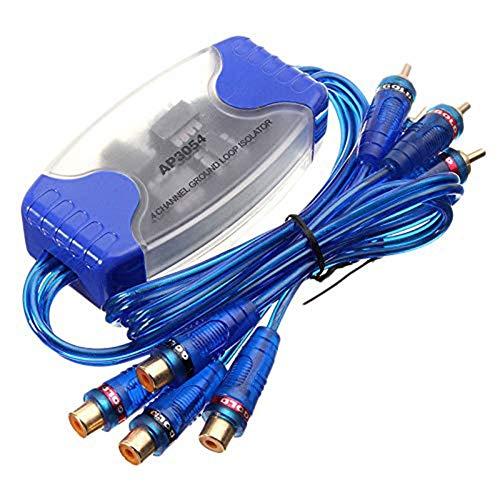 HoneybeeLY RCA-Audio-Rausch-Summenfilter, AP3054 50W 4-Kanal-RCA-Stereo-Erdungsschleifen-Isolator Für Auto-Audiosysteme, Heim- Und PC-Stereoanlagen Car Audio Batterie Isolator