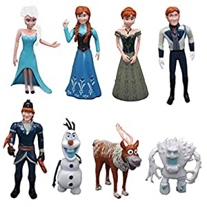 Frozen Character Cake Topper 8 Piece Figure Princess Elsa ...