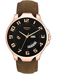 ROMEX New Day And Date With Counting Black Dial Watch For Boy-CPR-DDBLK