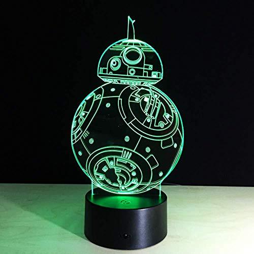 3D Led Lampen Für Tisch 2017 Neue Bb-8 Roboter Geschenke Geschenke Acryl Lampe Lampe Pvc Touch Nachtlicht Schlafzimmer Lichter