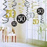 Queta Colgante en Espiral 30 40 50 60, decoración de Fiesta de cumpleaños 50 Years Old