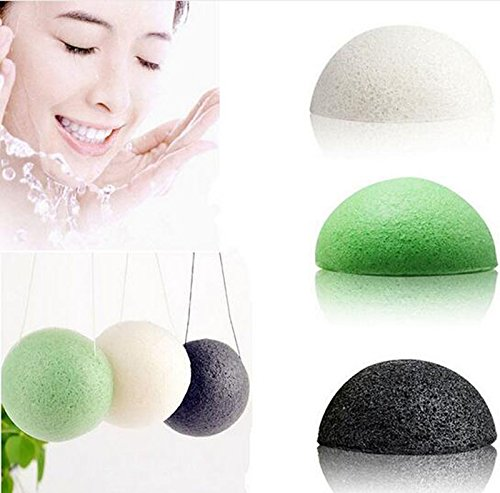 amile-makeup-sponge-women-ladies-natural-dry-konjac-konnyaku-facial-puff-face-wash-cleansing-sponge-