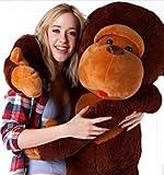 YunNasi Peluche gigante a forma di scimmia ottimo come regalo 110cm