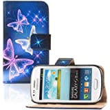 tinxi PU Kunstleder Tasche f�r Samsung Galaxy S3 Mini i8190, bunte Schmetterling Druck
