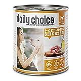 daily choice | Mit Geflügelherzen | 24 x 800 g | Nassfutter für Hunde | Getreidefrei | Optimal verdaulich Tierversuche, Zucker, Farb- & Konservierungsstoffe