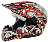 Airoh Motorbike Cross Helmet, Multicoloured (Orange), 56-S