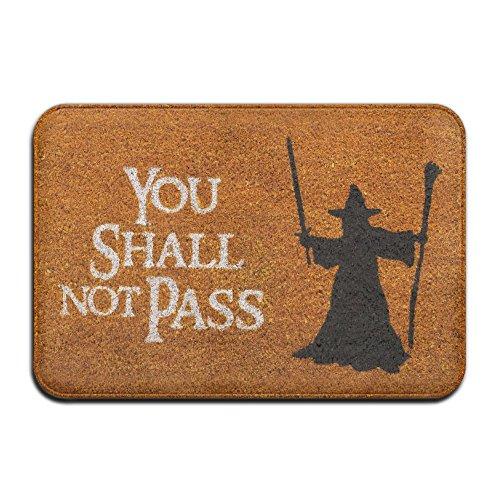 LianTuo You Shall Not Pass Cool 39,9x 59,9cm saugfähig Rutschfeste Boden Teppich Teppich Fußmatte