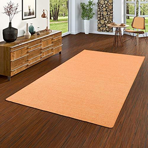 Astra Sisal Natur Teppich Orange in 24 Größen