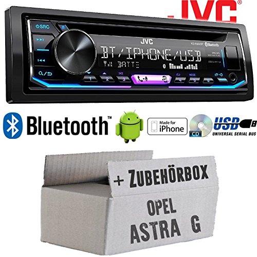 Opel Astra G - Autoradio Radio JVC KD-R992BT - Bluetooth   MP3   USB   Android   Multicolor - Einbauzubehör - Einbauset