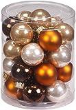 Inge Glas 15060D001 Kugel 30mm, 28 Stück / Dose, Cappuccino Mix, schokobraun, kupferbraun, krokant, champagner