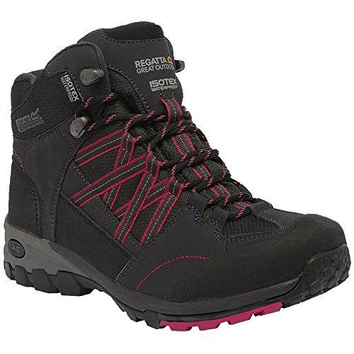 Regatta Womens/Ladies Samaris Mid Waterproof Breathable Walking Boots Briar / Dark Cerise