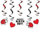 Girlande Happy Birthday Dekoration zum Kinder-Geburtstag Marienkäfer Deko Geburtstags-Feier-Party. Von Haus der Herzen ®