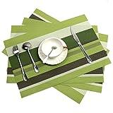 Tischsets, Wärmeisolierende PVC Tischsets, fleckresistente, kreuzweise gewebte Tischsets für Küchen mit 6 Teilen