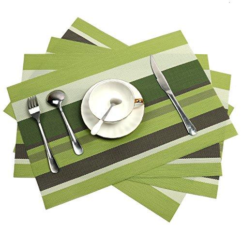 Tischsets, Wärmeisolierende PVC Tischsets, fleckresistente, kreuzweise gewebte Tischsets für...