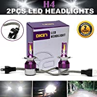 2016 Newest LED Headlight Bulbs All-in-One Conversion Kit - H4 LED High Low Beam -9,000Lm 80W High Beam-7,600Lm 72W Low Beam 6000K Diamond White Led Chip Super - 3 Year Warranty
