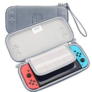 AFAITH Nintendo Switch Zubehör-Set, Hartschale, Reise-Aufbewahrungstasche, leicht, wasserdichte Schutzhülle
