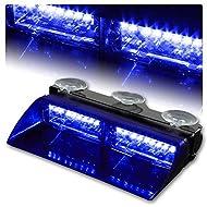 Rupse témoins d'alerte 16 LED à haute intensité LED Law titre exécutoire dangerosité urgence avertissement lumière stroboscopiche toit intérieur/en précipiter/pare-brise avec ventouses