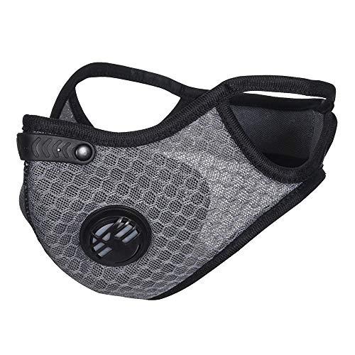 SKYSPER Mascara Antipolvo Máscara para Ciclismo Bicicleta Deportivo Antipolución Filtro de Aire A Prueba de Viento Carbón Mascarilla Contaminacion para Moto Esquí Montar Viaje al Aire Libre