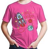 HARIZ  Jungen T-Shirt Endlich Schulkind 2018 Rakete Einschulung Schulanfänger Geschenk Gratis Geschenkkarten Pink 164/14-15 Jahre