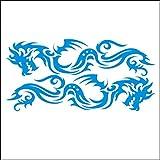 lepni.me 3001_LBL Autoaufkleber Set Stammes- Drachen für Auto (Light Blue)