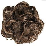 Jm-fashion-Supply Voluminöse Haarteil Pferdeschwanz Zopf Dutt Gummiband 80-120cm (braun 12#)