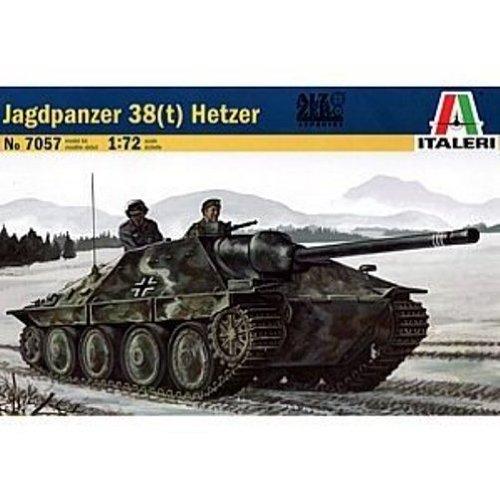 Italeri 7057 - jagdpanzer 38(t) hetzer model kit  scala 1:72