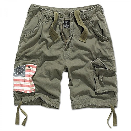 Brandit Herren Urban Legend Shorts Stars&Stripes Oliv