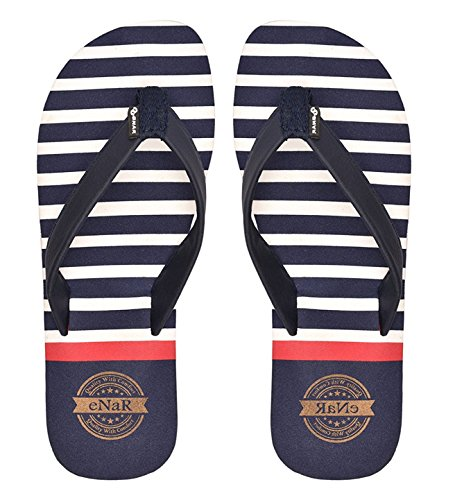 eNaR Women's Navy Color Thong-Style Slippers...