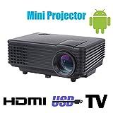 Wifi 3d führte Mini-Projektor Zubehör voll hd tv Heimkino projetor Video lcd proyector portable pico mircro Tasche Beamer , black