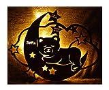 Schlummerlicht24 Babygeschenke personalisiert persönlich Taufgeschenk Nachtlicht Mond Teddy mit Name Baby Mädchen Junge