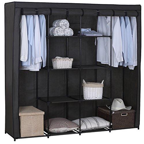 woltu-ss5024gr-armoire-penderie-en-tissupenderie-dressing-pliantarmoire-de-chambre-en-toile174x46x16