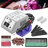 HG® Levigatrice a unghie macchina per manicure pedicure Professional Lucidatrice Nail Drill elettrico 20000TPM Kit di Levigatrice per unghie soggiorno all' uso professionale e domestico.