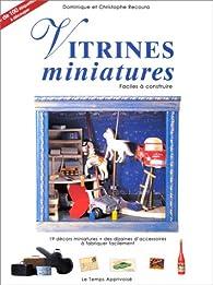 Vitrines miniatures faciles à construire par Aline Recoura