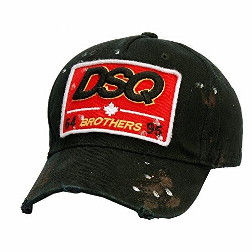HYP@Baseball Cap/Baseballkappe/Trucker Cap/Trucker Hat/Golf Sport Outdoor Kappe Mütze CapMänner und Damen schreiben Stempel outdoor Sport, schwarz, verstellbar -