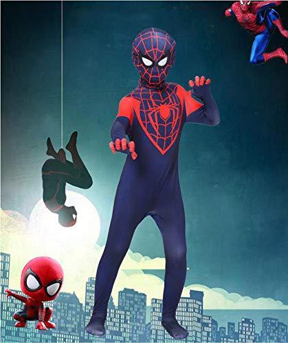 Adegk Kind Spider-Man Kostüm Halloween Maskerade Cosplay Kostüm Quantum Fantasy Siamese Dress Strumpfhose,XXXL