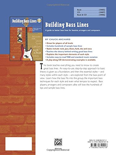 Building Bass Lines: A Guide to Better Bass Lines for Bassists, Arrangers & Composers, Book & CD