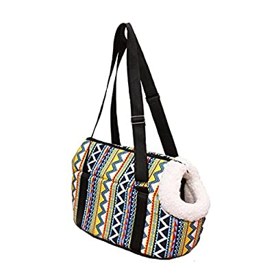 H&Living Carrying out pet tote bag Teddy pet cat feeding training Messenger Bag from H&Living