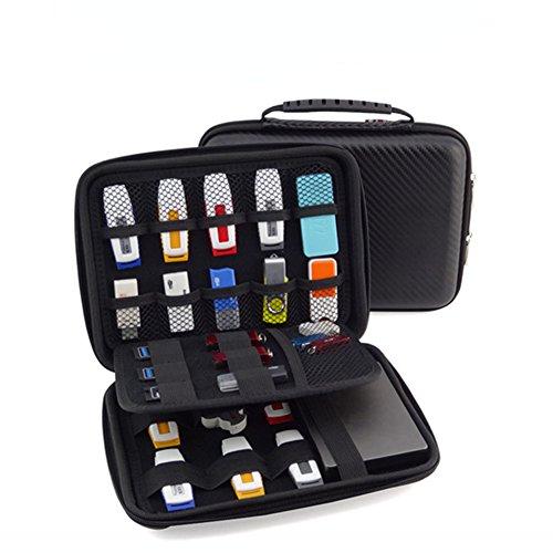 FunYoung USB-Speicherstick Organizer Aufbewahrungs Tasche Case Organizer für USB Sticks SD Speicherkarte Hülle Zubehöre Sammlung Test