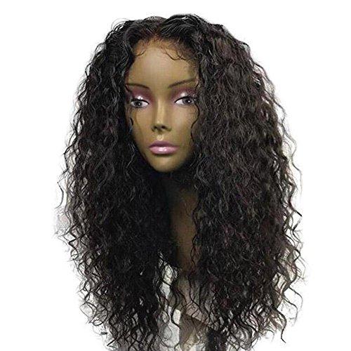 Curly Perücke (Blue Vessel verworrene lockige Perücke Curly Echthaar Lockig Perücken Kinky Curl Brasilianischen Virgin Haare Haardichte Lace Front Wig Glueless Human Hair Lace Wig)