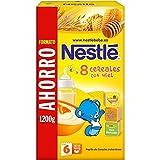 NESTLÉ Papilla 8 Cereales con Miel - Alimento para Bebés - Paquete de 8 x 1200 g - Total: 9.6 kg