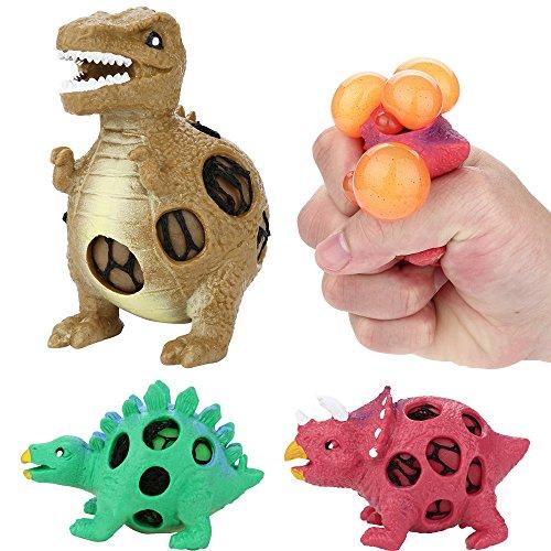 JIUZHOU Spielzeug Shop Dinosaurier-Modell Trauben-Entlüftungsbälle drücken Druck Stress-Ball Stressabbau Spielzeug