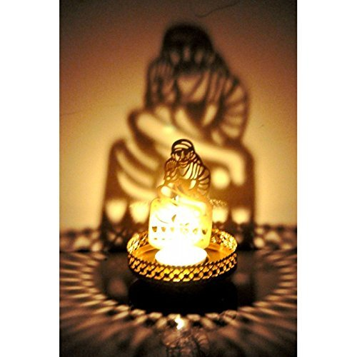 Muse Creations Shadow T-Lite/Diya Holder of Sai Baba - Pooja Worship, Prayer Diya, Diwali Gift, Corporate Gift, Temple Décor Item, Home Decor Item , Shagun For You  available at amazon for Rs.169