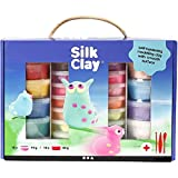 Set argilla Silk Clay, colori assortiti, 1 set