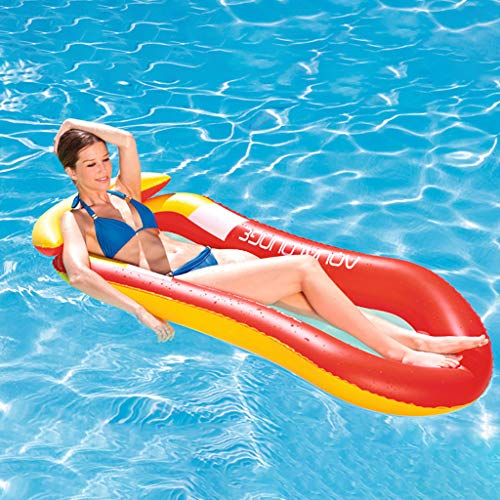 ToDIDAF Schwimmbad schwimmt für Kinder, Schwimmbadzubehör, Cartoon-Schwimmring, Wasser aufblasbares Spielzeug, schwimmendes Bett, geeignet für Sommerurlaub / Poolparty / Reisen (Lounge-Sessel) - Gurt Loafer Herren