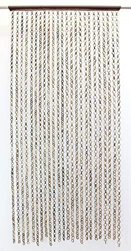 Neustanlo® Holzperlenvorhang Türvorhang 90x200 (Ring in Ring)