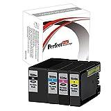 PerfectPrint - Conjunto de 4 PerfectPrint Cartucho de Tinta Compatible Reemplace 1500XLB 1500XLC 1500XLM 1500XLY para Canon maxify MB2000 MB2050 MB3000 MB2350