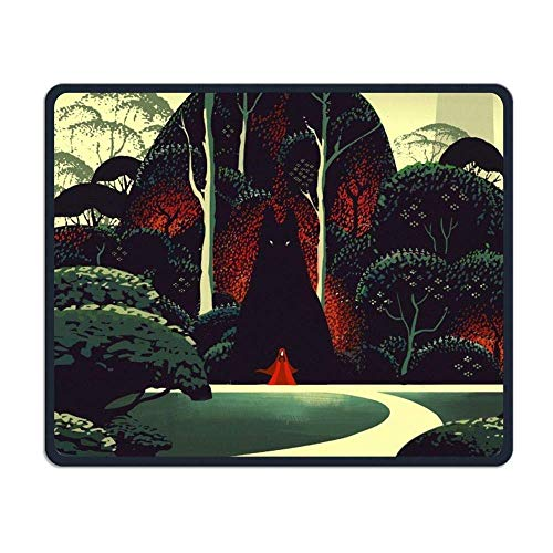 Little Red Riding Hood Gaming Mouse Pad Custom Design Non-Slip Rubber Mouse Mat for Desk,Laptop