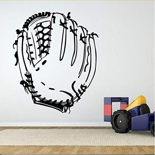 Wuyyii Baseball Spiel Handschuh Poster Wandaufkleber Für Sport Zimmer Hintergrund Wandtattoos Gym Tapete Home Decor Wandbilder Aufkleber 57X73 Cm